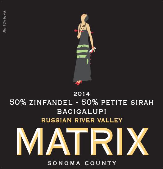 2014 50/50 Petite Sirah Zinfandel Blend - Bacigalupi Vineyard Image